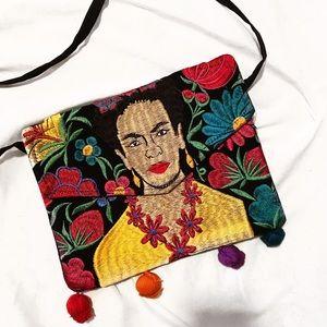 Frida Embroidered Crossbody Purse